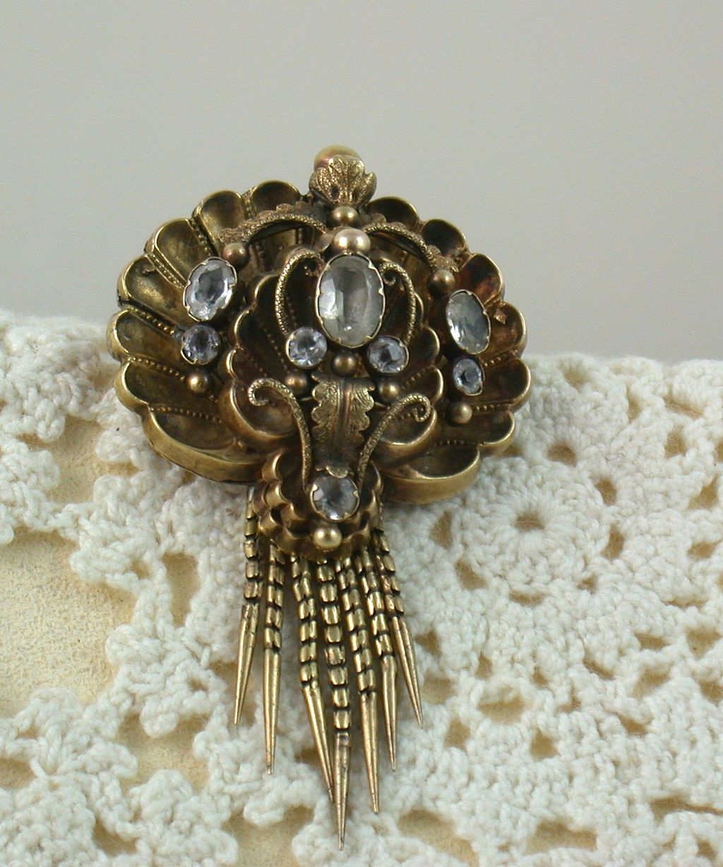 14K Early Paste Brooch/Pendant