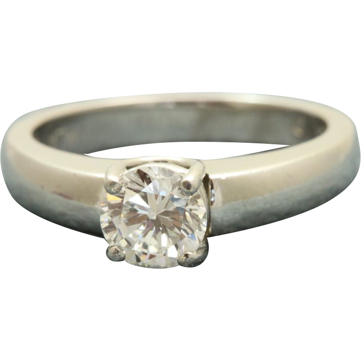 Estate Platinum Jeff Cooper 0.72 CT Diamond Solitaire