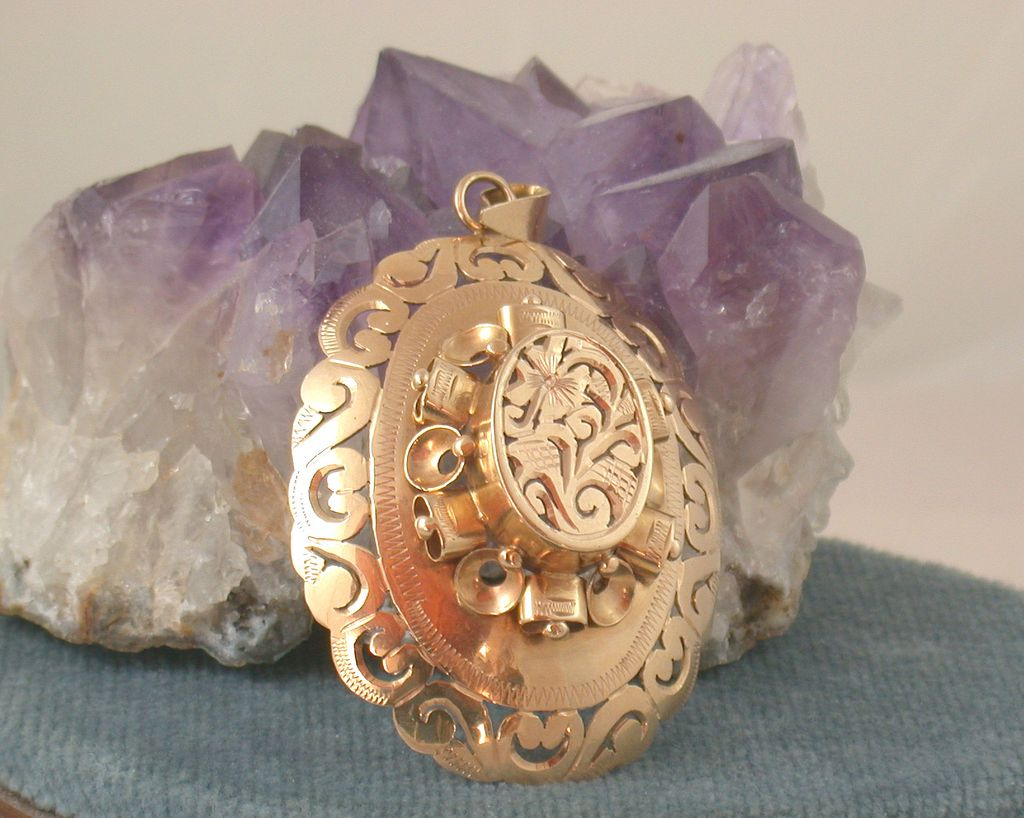 Estate 14K Moorish Pendant