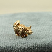 Estate 14K 3 Dimensional Bear Charm