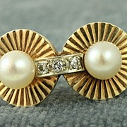 "Estate ""Old Hollywood"" Pearl and Diamond Ring"