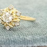 Estate 18K Jabel Diamond Cocktail Ring