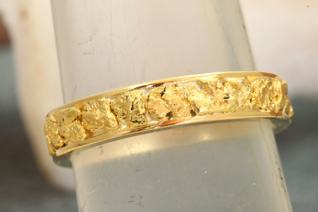 Estate 14K Gold Nugget Band