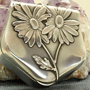Art Nouveau Silver Box Pendant