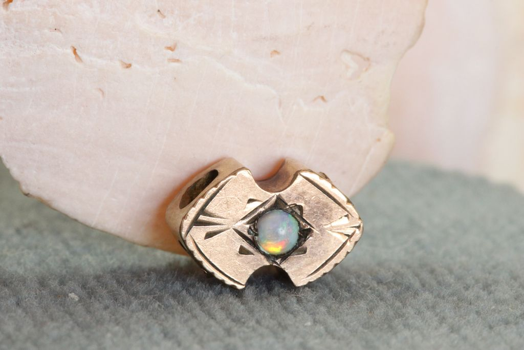 Estate Gold Filled Opal Victorian Slide