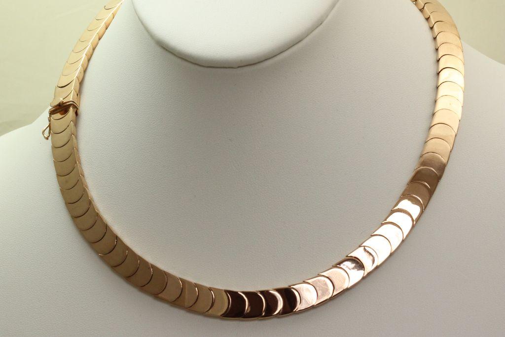 Estate 18K Fine Rose Gold Necklace