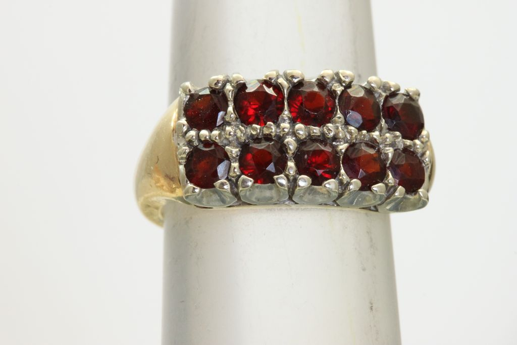 14K/Platinum 1.5 CT Garnet Ring