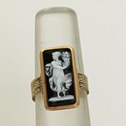 14K Victorian Hardstone Cameo Ring
