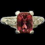 18KW 2.58 CT Raspberry Tourmaline Diamond Ring