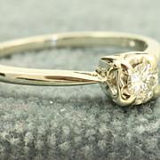 14KW 0.15 CT Diamond Ring
