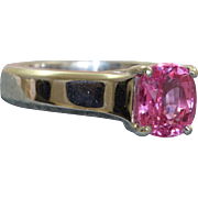 Jeff Cooper Platinum 2 CT Natural Pink Sapphire Ring