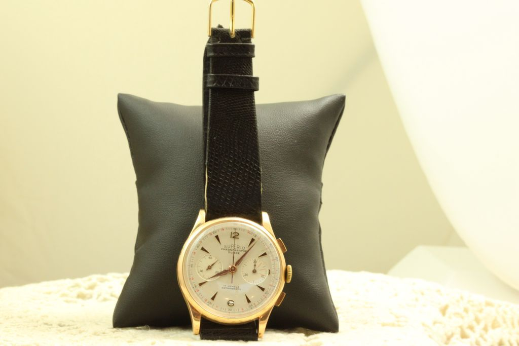 18K Superior Swiss 17 Jewel Doctor's Chronograph Watch