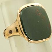 14K Rose Gold Bloodstone Shreve & Co Ring