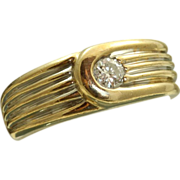 Estate 14 K 0.20 CT Diamond Band