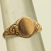 14 K Signet Ring