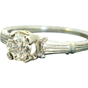 Estate 18 KW Jabel 0.55 CT Brilliant Cut Diamond Ring