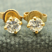 Estate 14 K 0.40 CT TW Diamond Studs