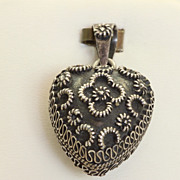 Vintage Sterling Puffy Heart Pendant