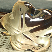 Estate Tiffany Sterling Leaf Dish