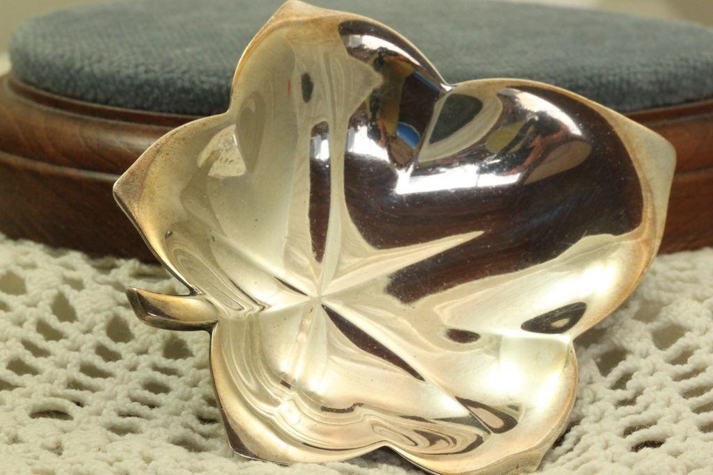 Estate Tiffany Sterling Leaf Dish