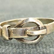 Vintage Sterling Buckle Ring