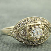1930's 14 KW 0.65 CT Diamond Ring