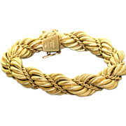 Estate Solid 18 K Tiffany Twisted Rope Bracelet