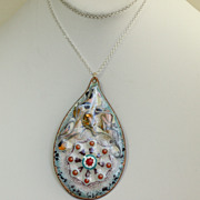 1960's Enamel Over Copper Pendant