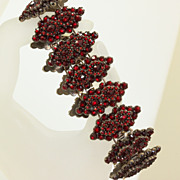 Early Estate Rose Cut Garnet Bracelet