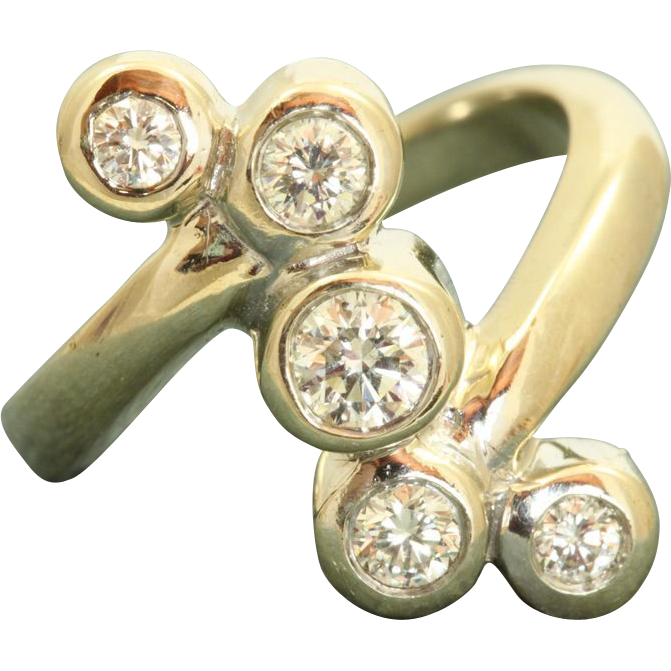 Estate 14 KW 1.2 CT 'S' Diamond Ring