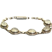 Estate Deco Sterling Moonstone Bracelet