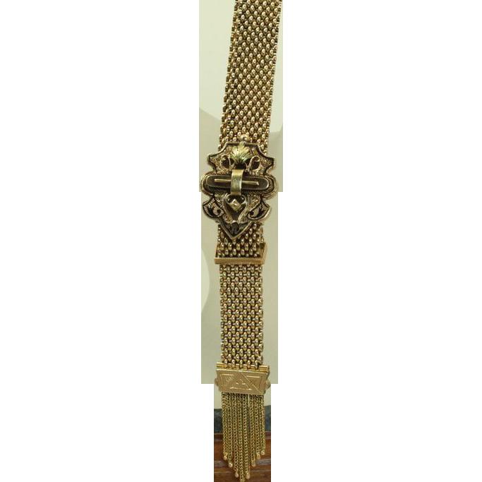 12 K Victorian Slide Bracelet
