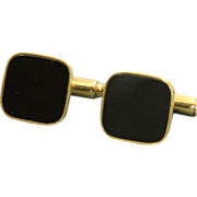 Estate European 14 K Onyx Cuff Links