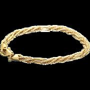 Estate 14 K Woven Bracelet