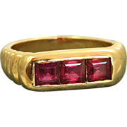 Estate 18 K Bulgari 2.25 CT Ruby Ring