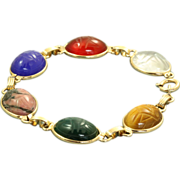 Estate 14 K Scarab Bracelet