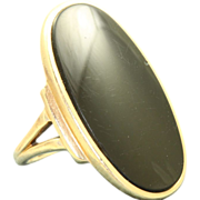 Estate 10 K Onyx Ring