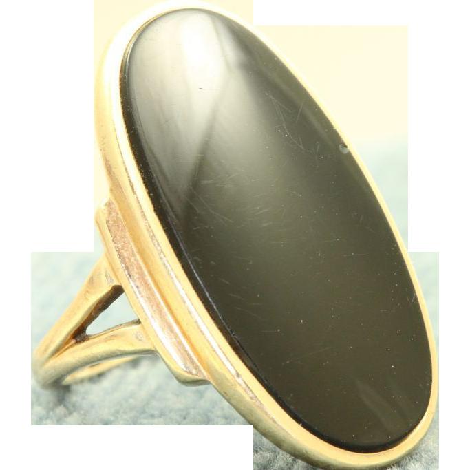 Estate 10 K Onyx Ring