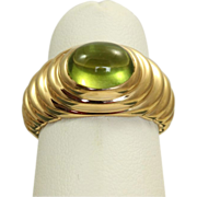 Estate Bulgari Retired 3 CT Peridot Ring