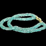 18 CT Double Strand Apatite Bead Bracelet