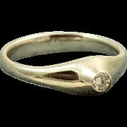 Estate Tiffany Platinum 0.16 CT Diamond Ring