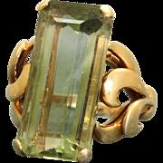18 K Estate 10 CT Tourmaline Ring