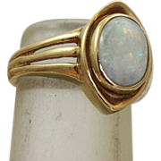 Estate 14 K 2 CT Opal Ring