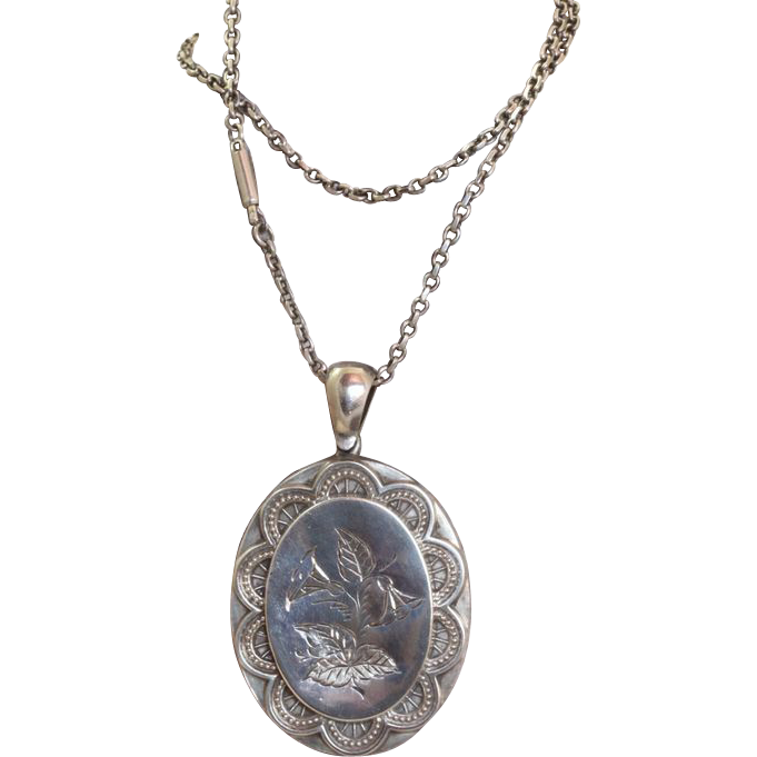 Sterling 1890 Birmingham Mourning Locket