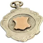1861 Sterling/Rose Gold Watch Fob Birmingham, England