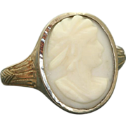 Vintage 18 KW Cameo Ring