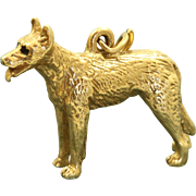 Estate 14 K Vintage Dog Charm