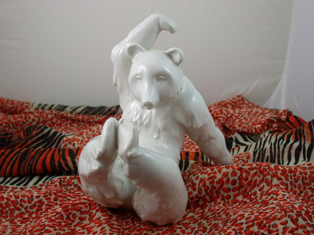 Porcelain Bear with Relaxed Attitude