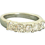 Estate Platinum Five Stone Band @1.25 CT