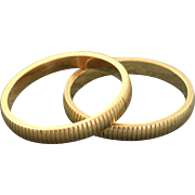 Estate 1940's 14 K Twin Ring Guards